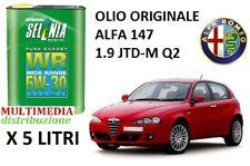 5 LT OLIO MOTORE ORIGINALE SELENIA WR 5W30 ALFA ROMEO 147 1.9 JTD-M DIESEL Q2