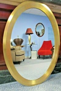 Gold Gilded Oval Round Framed Wall Mounted Hanging Mirror