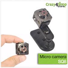 Mini telecamera spia micro camera nascosta Full HD Auto Car SQ8 spy cam video