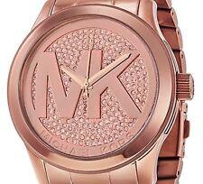 Brand New! Michael Kors MK Runway Crystal Rose Gold tone Women's Watch MK5661