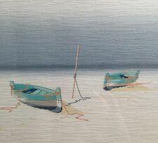 Moderne Grafik Boote am Strand signiert Gierdani ..