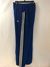 Men's Large Adidas Clima Lite Line Vent Sweat Pants Zip ankles Blue Striped 429