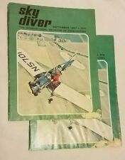 Vintage September 1967 Sky Diver Magazine Collectable with water damage