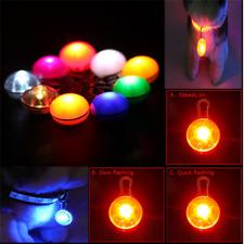 1/6Pcs Clip Buckle Luminous Pet LED Pendant Dog/Cat Flashing Light Collar Tag