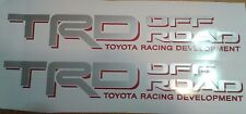 TRD Off Road 4x4, decal Sticker gray and red TOYOTA TUNDRA TACOMA TRUCK (set)