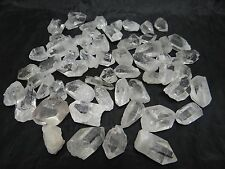 "BEST GRADE 1 LB.""AA"" PENDANT-SIZE CLEAR QUARTZ CRYSTAL POINTS #AAP -55-65 PCS."