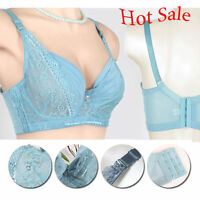 Womens Transparent Underwire Underwear Lace Push Up Bra 34 36 38 40 42 44 B C D