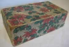 Old Christmas Candy Box w/ Poinsettia & Holly - Advertising Gates in Reading Pa