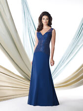 Authenic Montage by Mon Cheri 114909w Color Navy Size 22-mother of The Bride