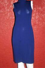 MODE INTERNATIONAL SLEEVELESS BLUE JERSEY DRESS SIZE S