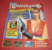 Magazine Consoles+ [n°90 J/A 99] PS1 Nintendo 64 Dreamcast Resident Evil 2 3 JRF