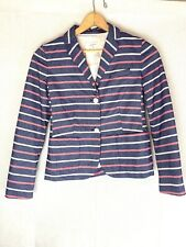 Gap The Academy Blazer Classic Pink White Blue Pin Striped Womens Coat Size 2