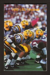 Louisiana State Tigers--1992 Football Pocket Schedule