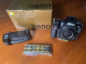 Nikon D850 45.7MP DSLR w/3-year Extended Full Warranty, plus Nikon Battery Grip