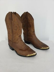 Justin Brown Cowboy Boot Youth 2253Y Size 3