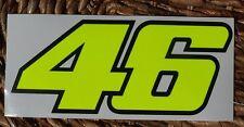 ADESIVO CASCO 46 FLUORESCENTE VALENTINO ROSSI VR46 CM. 21x9