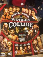 WWE NXT Houston TAKEOVER Worlds Collide  Poster LITHOGRAPH Signed Version!