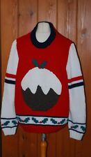 BN, Men's, Knitted, Red, Festive, Christmas, Wool, Jumper, size XL-2XL