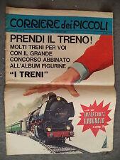 CORRIERE DEI PICCOLI # 40 - 1 OTTOBRE 1967- CONTIENE ALBUM FIGURINE I TRENI
