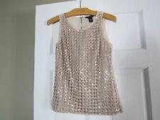 White house Black Market top sequin gold tone size XXS