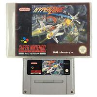 SNES Hyper Zone Hyperzone game cartridge for Super Nintendo in Rental Case PAL