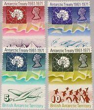 BAT BRITISH ANTARCTIC 1971 39-42 10Ann Antarctic Treaty Science Forschung MNH
