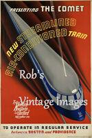New York, Hartford, New Haven Railroad Photo Poster The Comet Train