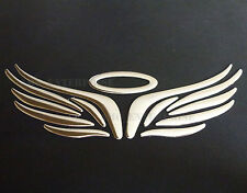 Self Adhesive Chrome Effect Angel Halo Badge for Fiat Grande Punto Evo 500 Bravo
