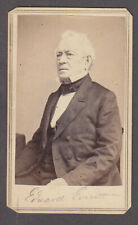 New listing Edward Everett Cdv with Brady Back Mark Believe this is Signed by Him in Pencil