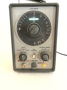 Vintage EICO Model 955 In Circuit Capacitor Tester. Bright eye