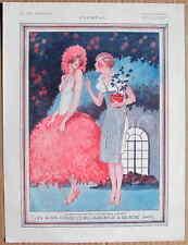 LEONNEC 1924 vintage french la vie parisienne Imprimé Art Déco Fille Coquine Showgirl