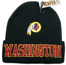READ LISTING!Washington Redskins Flat Logo on 3D Embroidered Beanie Knit Cap hat