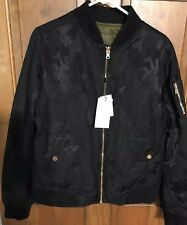 2 in 1 nwt sz XL reversible womens OROBOS black camo/green bomber jacket $240