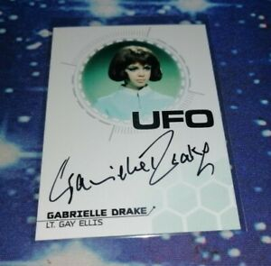 UFO Series 3 Trading Cards: Gabrielle Drake Silver Foil Autograph Card GD2
