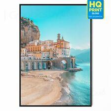 Amalfi Coast Beautiful Landscape Italy Tourist Attraction Poster A5 A4 A3 A2 A1