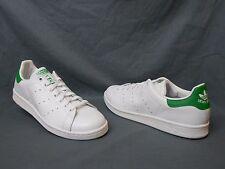 Adidas Stan Smith Retro Tennis Sneakers Leather White Green Mens Size 10.5 FMWOB