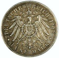"""New listing 1903-G German States Funf """"5 Mark"""" Baden - Priced Right!"""