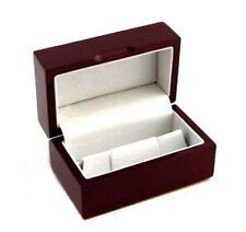 Rosewood Mens Cufflinks Jewelry Display Gift Box