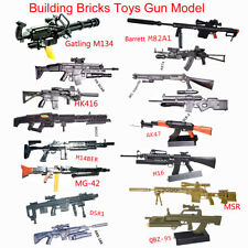1/6 Scale Gatling Toy Gun Assembly Model Puzzles Bricks Weapon Action Figure