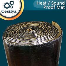 Car Exhaust Heat Insulation Shield Sheet Mat Sound Silent Deadener 100cm x 10cm