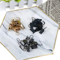 10Pcs Stainless Steel Window Shower Curtain Rod Clips Hook Clips Rings Clips FT