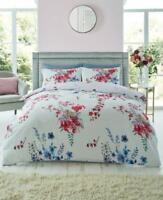 Emilia Grey Duvet cover Set Floral Duvet Set Quilt Cover Set Bedding Bed Set