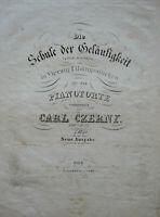 Czerny: Schule der Geläufigkeit - Heft 1, Erstausgabe 1833, Diabelli