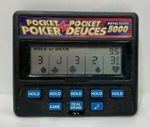 Vintage Radica Pocket Draw Poker / Deuces 5000 Handheld Game Model 1314 Tested
