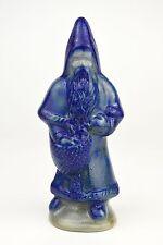 1992 BBP Beaumont Brothers Pottery Salt Glaze Blue Santa Claus Christmas Decor