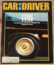 JUNE 1974 CAR AND DRIVER MAGAZINE TIRE TEST, CHEVY VEGA, VW DASHER, FORD PINTO