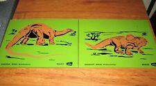 Vintage DINOSAUR JUDY INSTRUCTO Children's Wood Puzzles