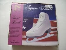 Girls Figure Skates by American Athletic Shoe Co.  Style 512  White Size 3 NEW!!