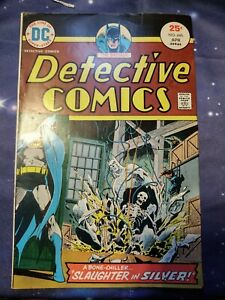"""THE BATMAN DETECTIVE COMICS """"SLAUGHTER IN SILVER"""" No.446 APR. 1975 Bronze Age..."""