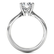 1 1/2 Carat Round Cut Diamond Ring Solitaire Engagement White Gold 14k E SI2
